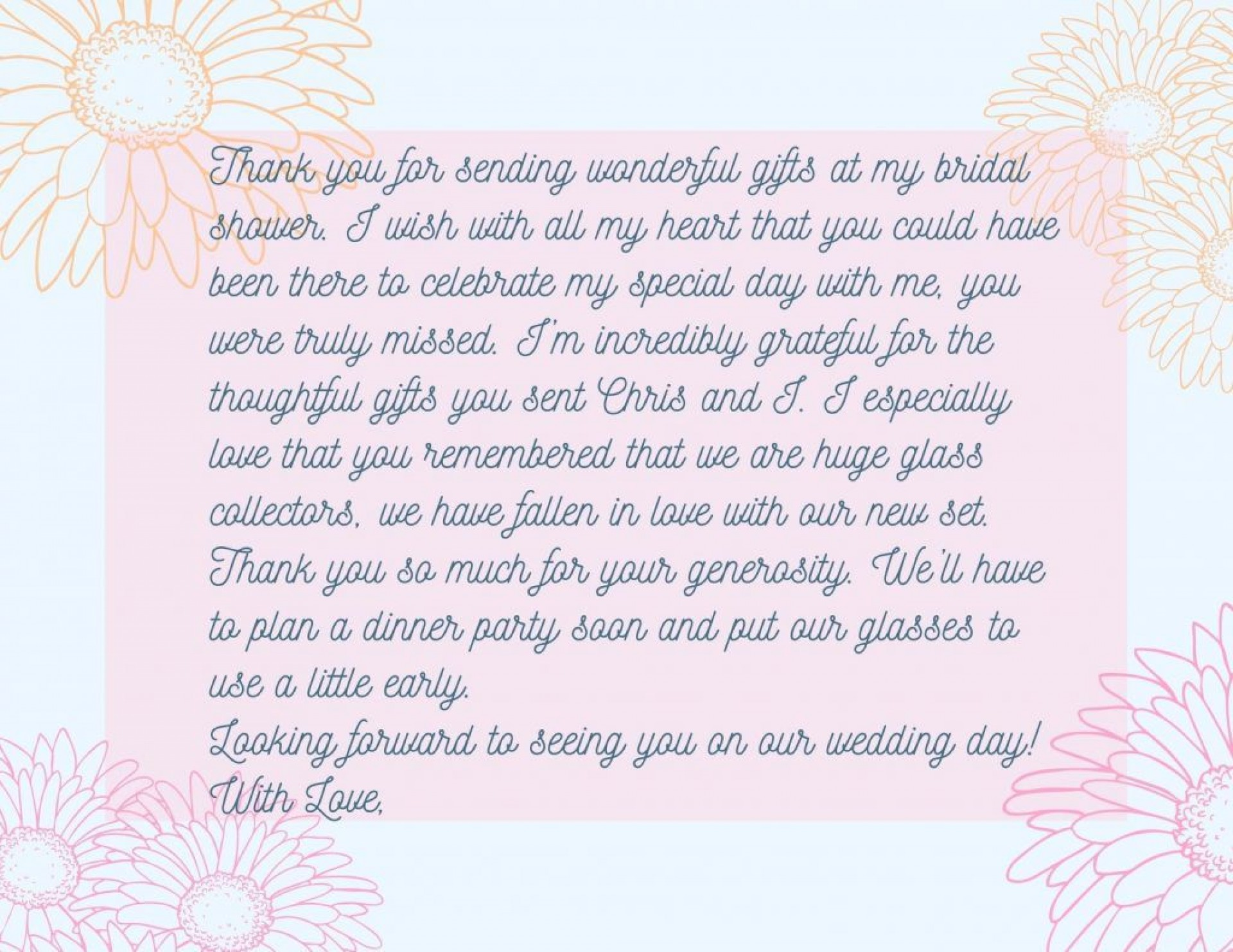 007 Incredible Thank You Note Template Wedding Shower Idea  Bridal Card Sample Wording1920