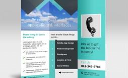 007 Incredible Three Fold Brochure Template Psd Sample  A4 3 Free