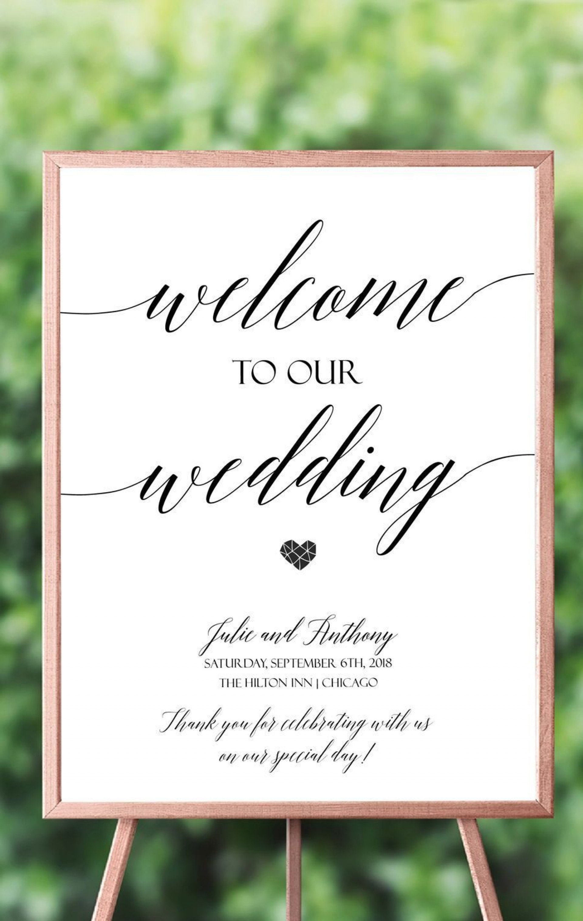 007 Incredible Wedding Welcome Sign Template Free Highest Clarity 1920