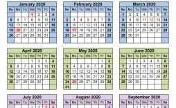 007 Magnificent 2020 Yearly Calendar Template Sample  Word Uk