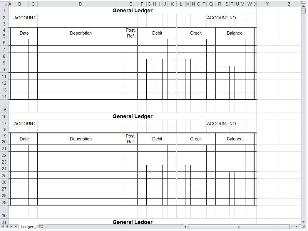 007 Magnificent Accounting Journal Entry Template Excel Concept  DoubleFull