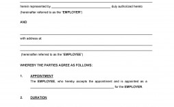 007 Magnificent Australian Employment Contract Template Free Sample