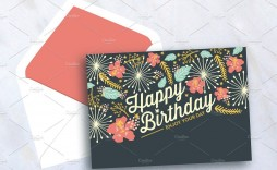 007 Magnificent Birthday Card Template Photoshop Concept  Greeting Format 4x6 Free
