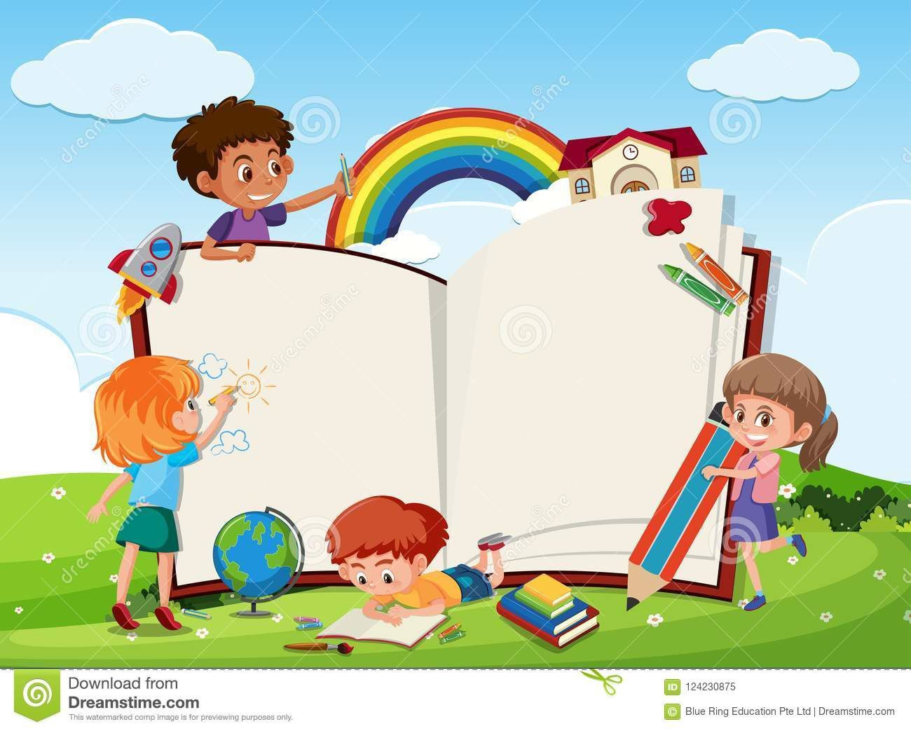 007 Magnificent Book Template For Kid Idea  KidsFull