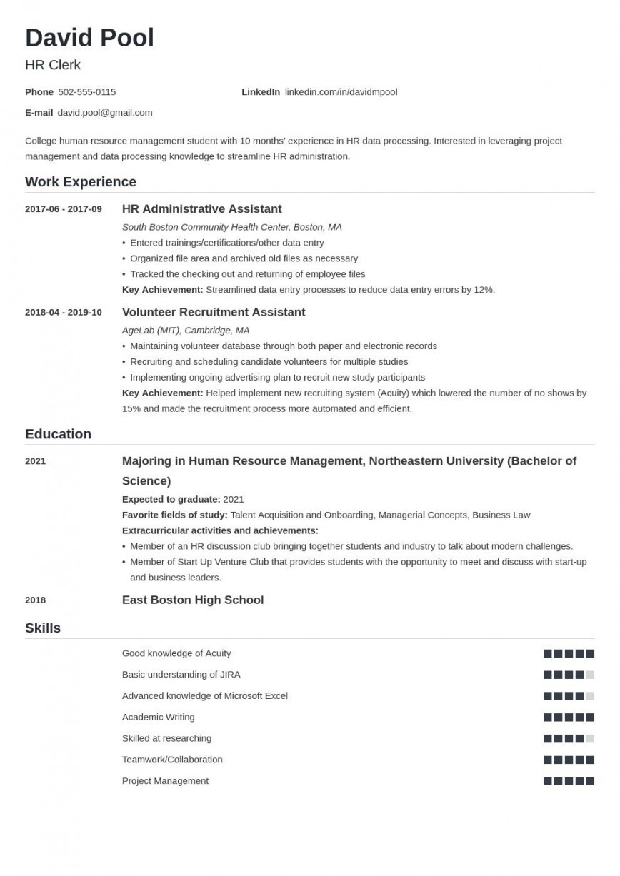 007 Magnificent College Freshman Resume Template Inspiration 868