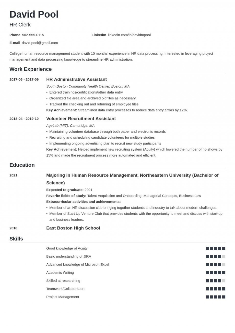 007 Magnificent College Freshman Resume Template Inspiration 960