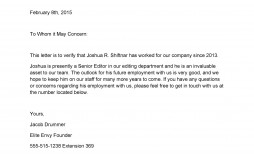 007 Magnificent Employment Verification Letter Template Word Idea  South Africa