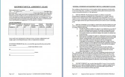 007 Magnificent Equipment Rental Agreement Template High Resolution  Canada Free South Africa Pdf
