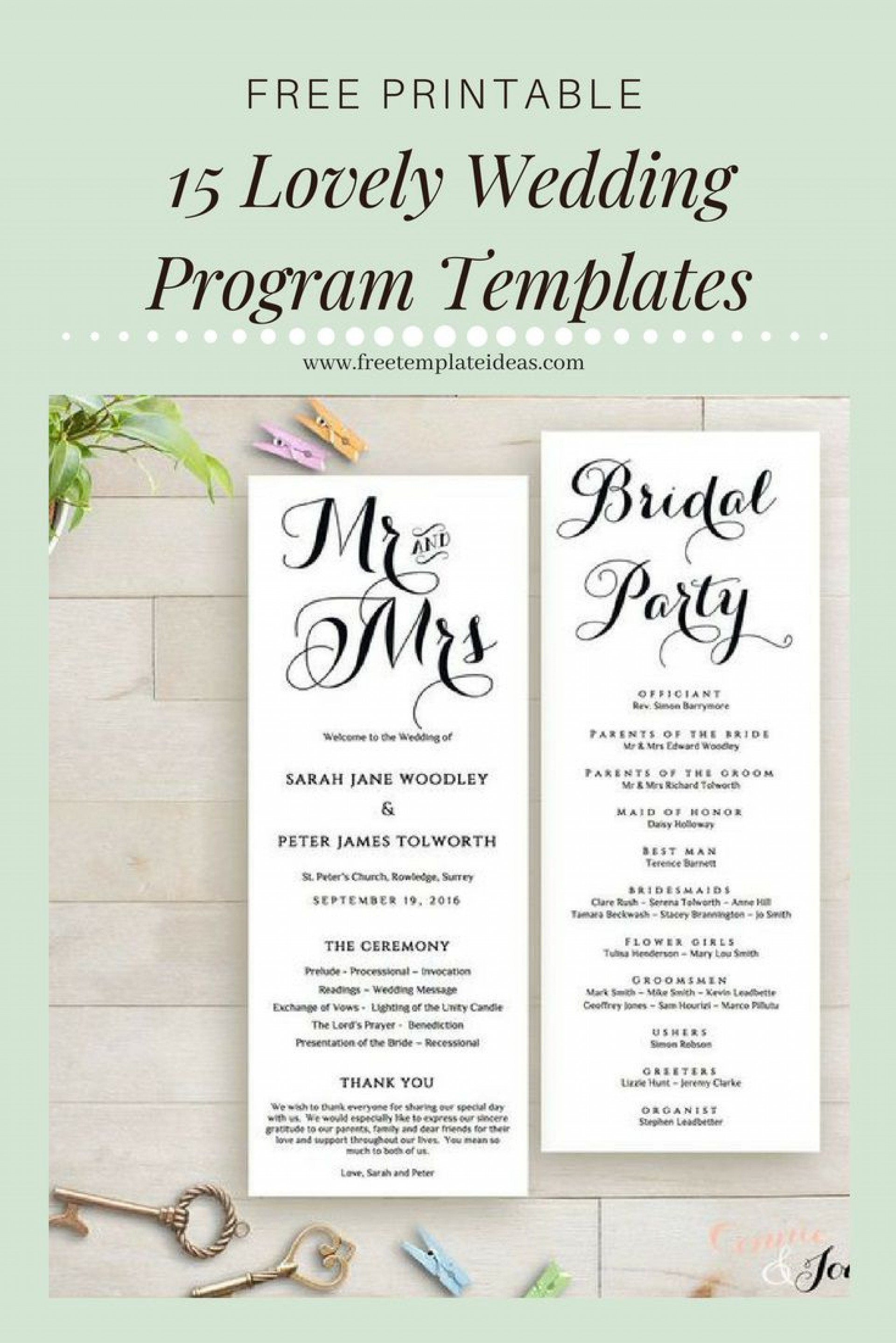 007 Magnificent Free Downloadable Wedding Program Template Sample  Templates That Can Be Printed Printable Fall Reception1920