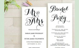 007 Magnificent Free Downloadable Wedding Program Template Sample  Templates That Can Be Printed Printable Fall Reception