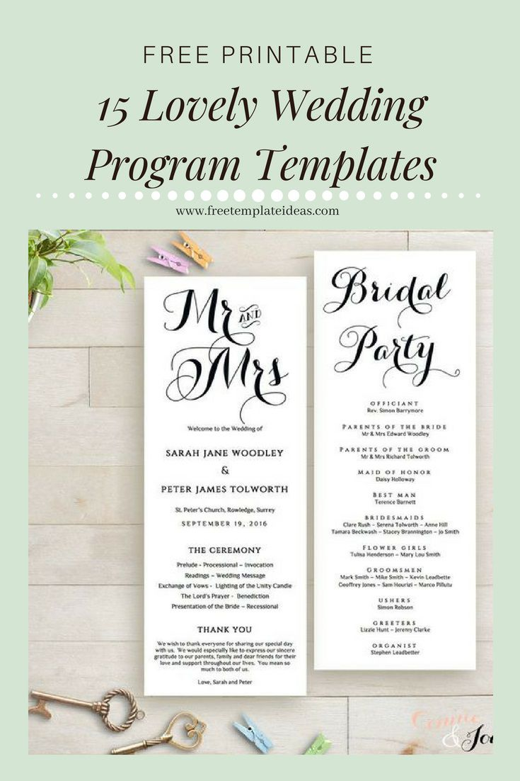 007 Magnificent Free Downloadable Wedding Program Template Sample  Templates That Can Be Printed Printable Fall ReceptionFull