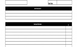 007 Magnificent Free Job Estimate Template Inspiration  Printable Form