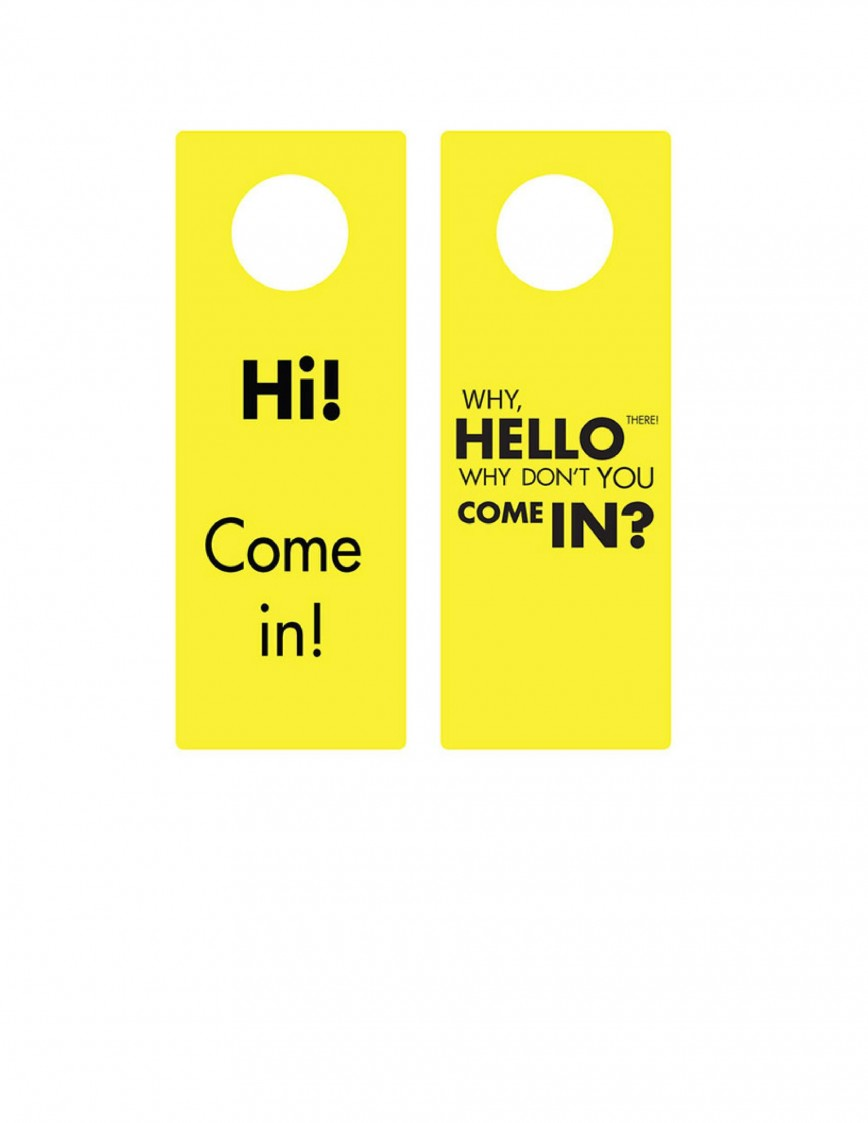 007 Magnificent Free Online Door Hanger Template Image  Templates