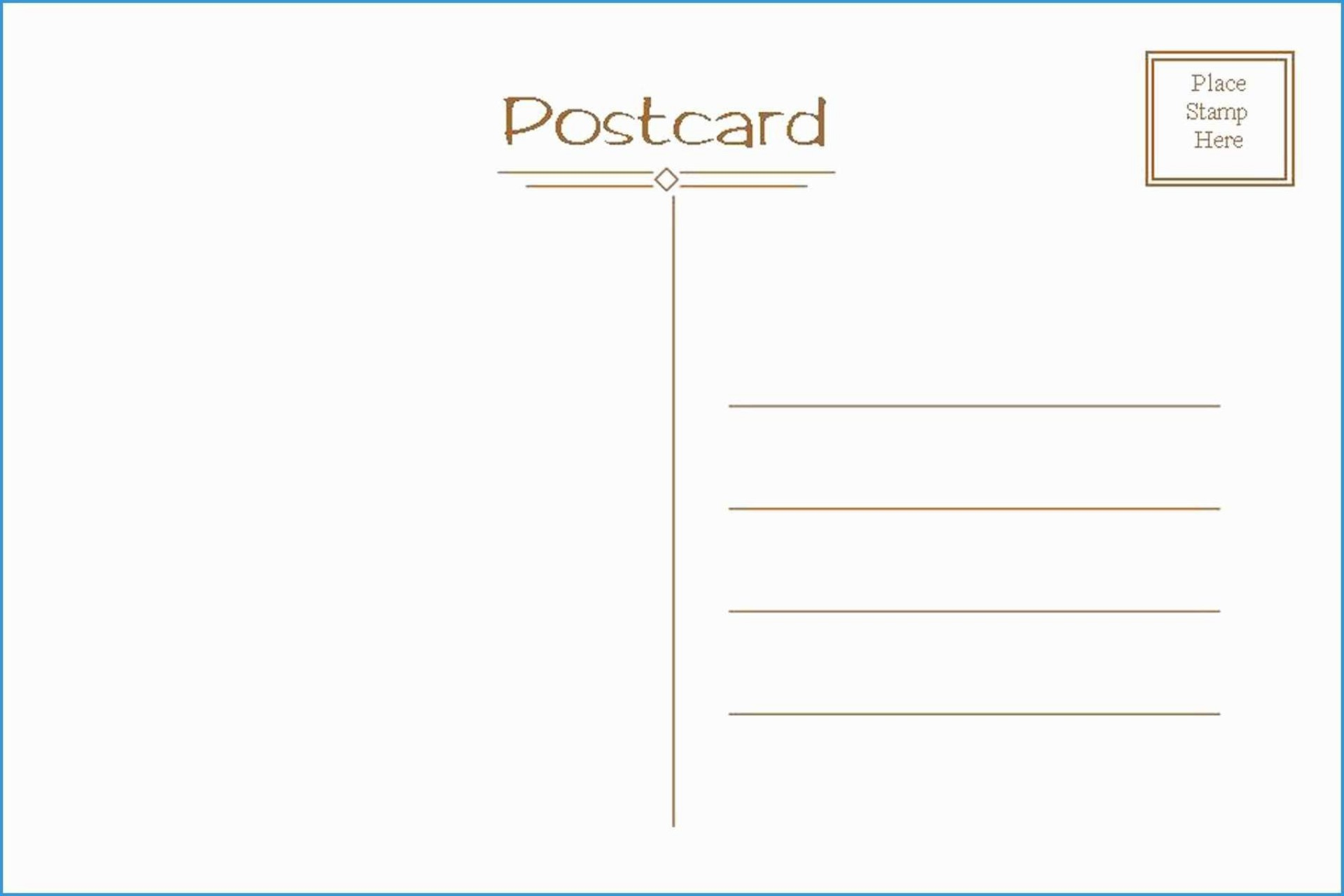 Free Postcard Template For Word Addictionary