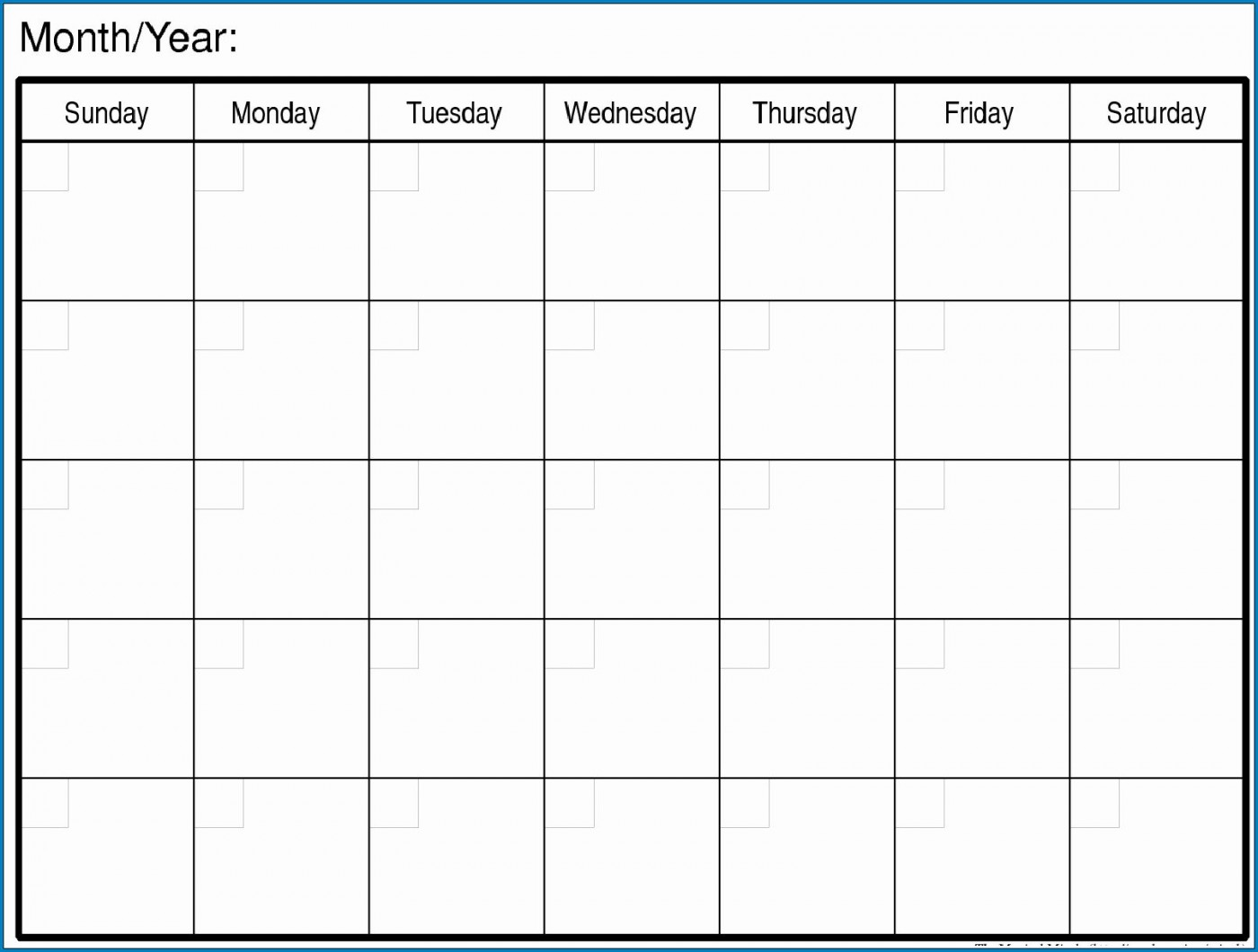 007 Magnificent Free Printable Blank Monthly Calendar Template Picture 1400