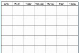 007 Magnificent Free Printable Blank Monthly Calendar Template Picture