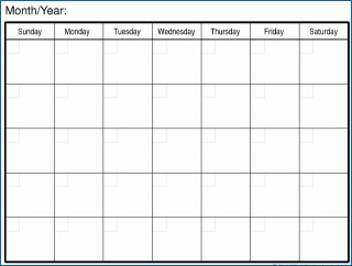007 Magnificent Free Printable Blank Monthly Calendar Template Picture 320