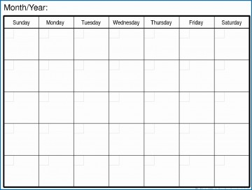 007 Magnificent Free Printable Blank Monthly Calendar Template Picture 360