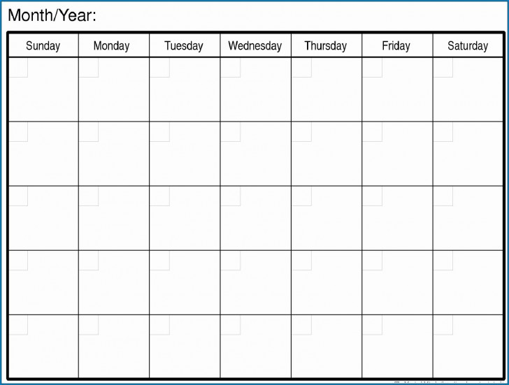 007 Magnificent Free Printable Blank Monthly Calendar Template Picture 728