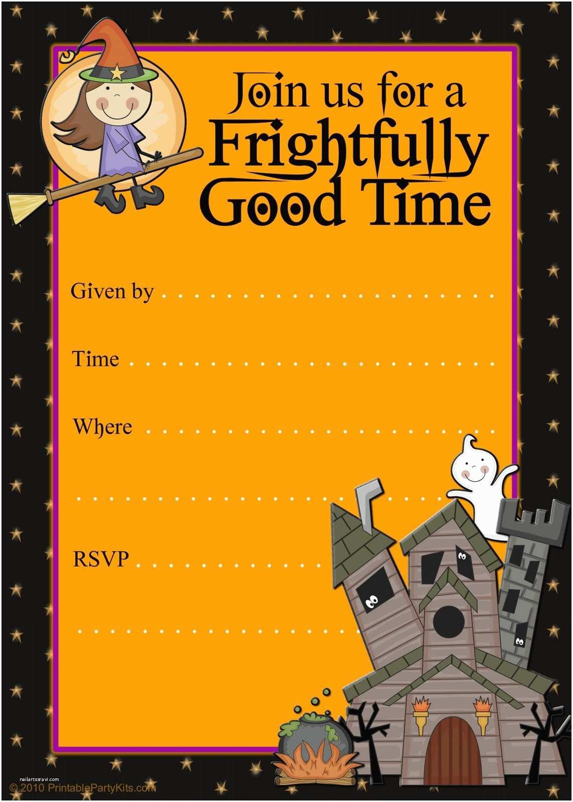 007 Magnificent Halloween Party Invitation Template Photo  Templates Scary SpookyFull