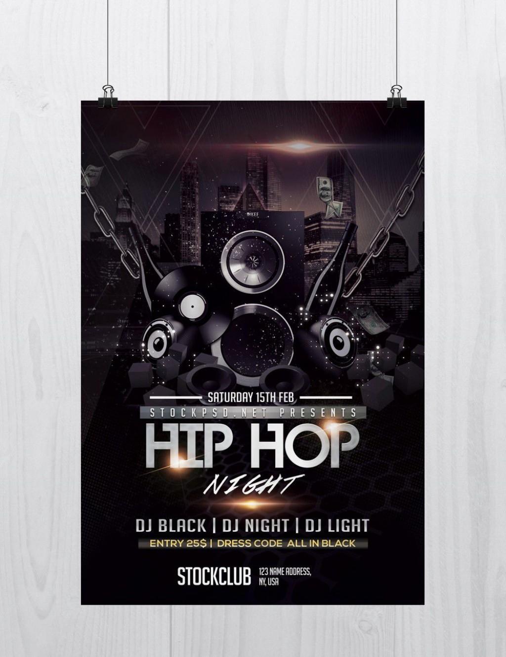 007 Magnificent Hip Hop Flyer Template Design  Templates Hip-hop Party Free DownloadLarge