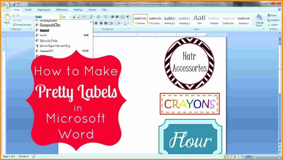 007 Magnificent Microsoft Word Label Template Free Photo  Cd Dvd Water Bottle960