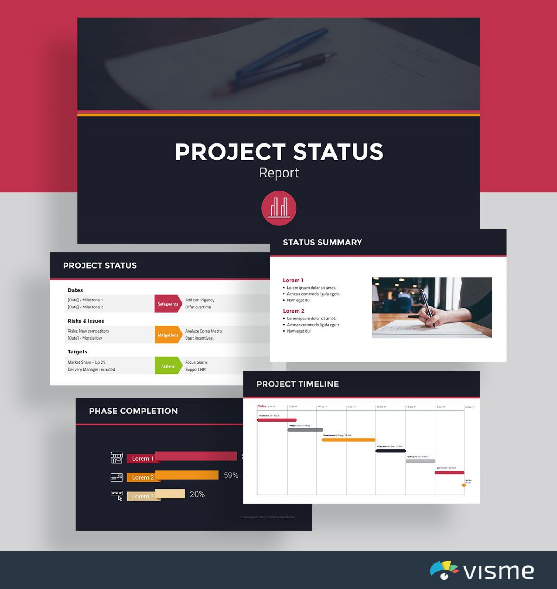 007 Magnificent Multiple Project Tracking Template Ppt Free Download Photo 1920