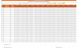 007 Magnificent Preventive Maintenance Template Excel Download Idea  Computer