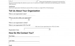 007 Magnificent Printable Donation Form Template Example  Blank Receipt