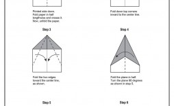 007 Magnificent Printable Paper Airplane Folding Instruction High Def  Instructions