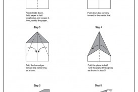007 Magnificent Printable Paper Airplane Folding Instruction High Def