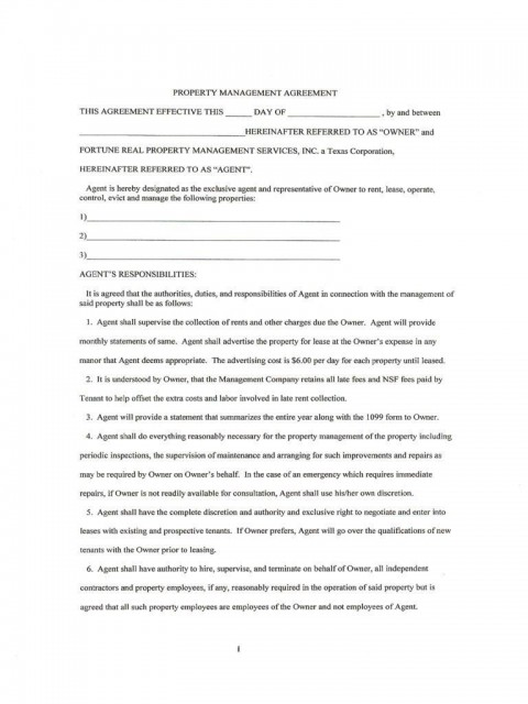 007 Magnificent Property Management Contract Template Free Concept  Uk480