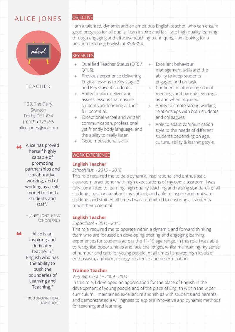 007 Magnificent Resume Template For Teaching Highest Quality  Example Assistant Cv Uk JobFull