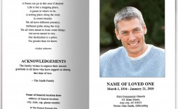 007 Magnificent Simple Funeral Program Template Free Photo  Download