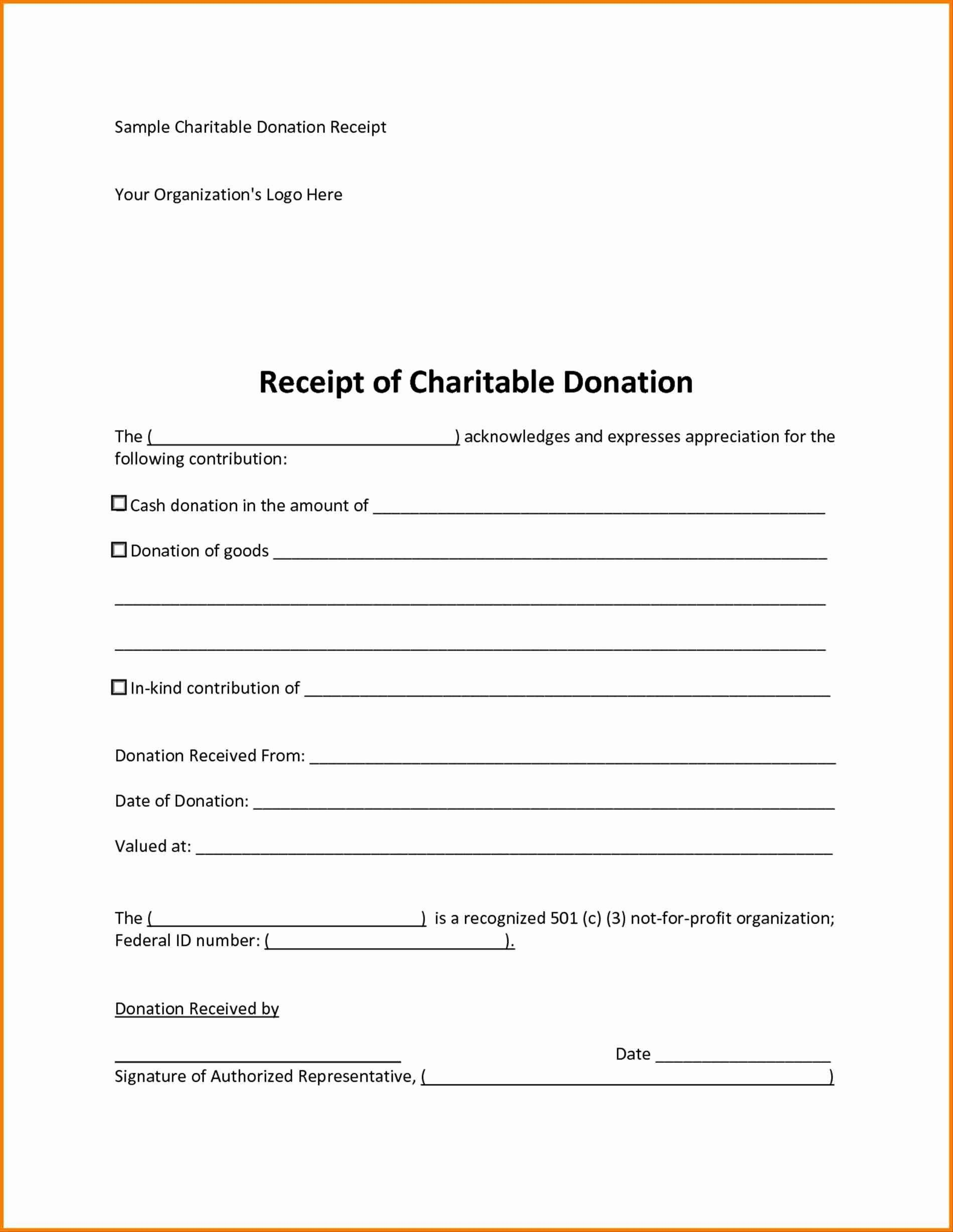 007 Magnificent Tax Donation Receipt Template Idea  Canadian Charitable Letter Church DeductionFull