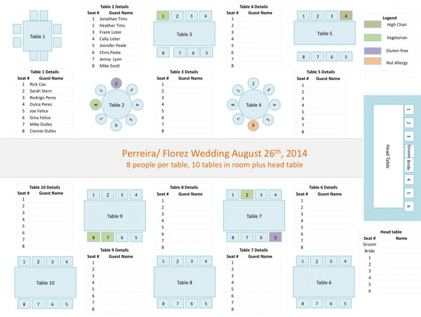 Wedding Reception Seating Chart Template Addictionary