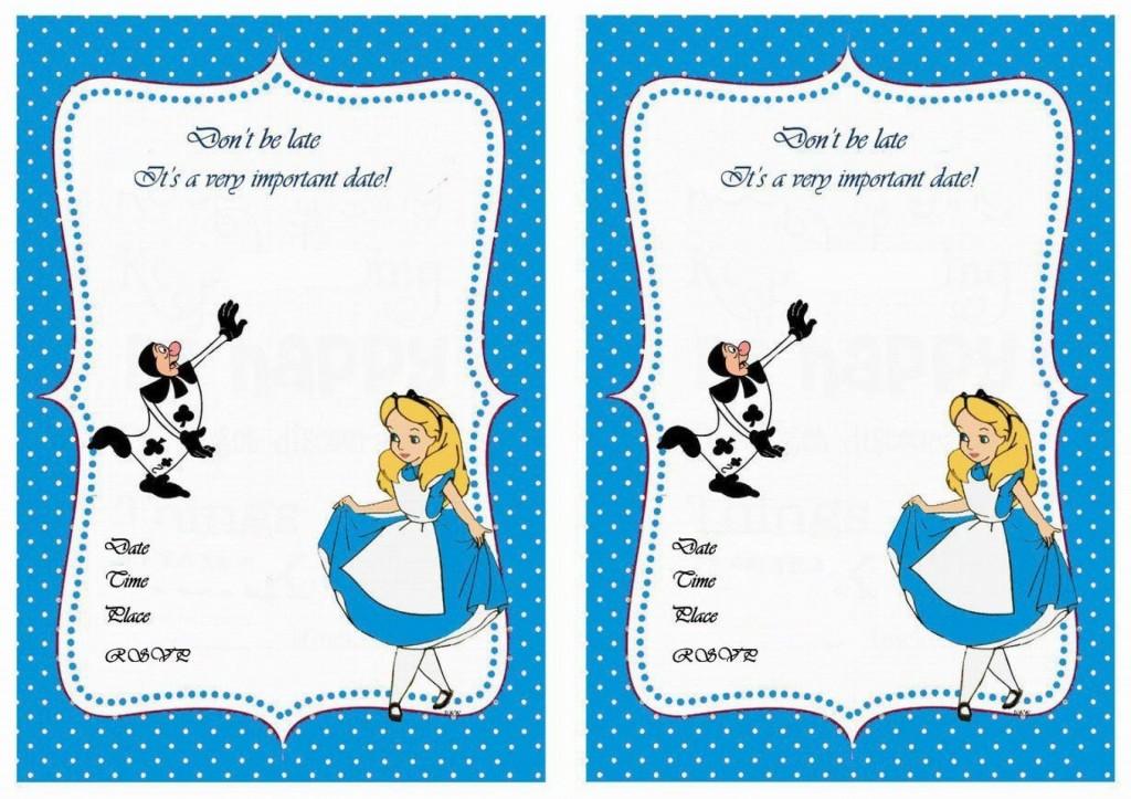007 Marvelou Alice In Wonderland Invitation Template Download Photo  FreeLarge