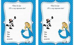 007 Marvelou Alice In Wonderland Invitation Template Download Photo  Free