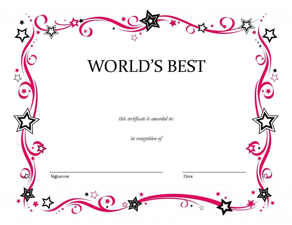 007 Marvelou Blank Award Certificate Template Picture  Printable Math Editable FreeLarge
