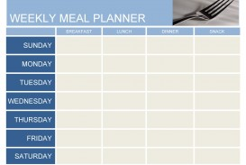 007 Marvelou Excel Weekly Meal Planner Template Image  With Grocery List Downloadable