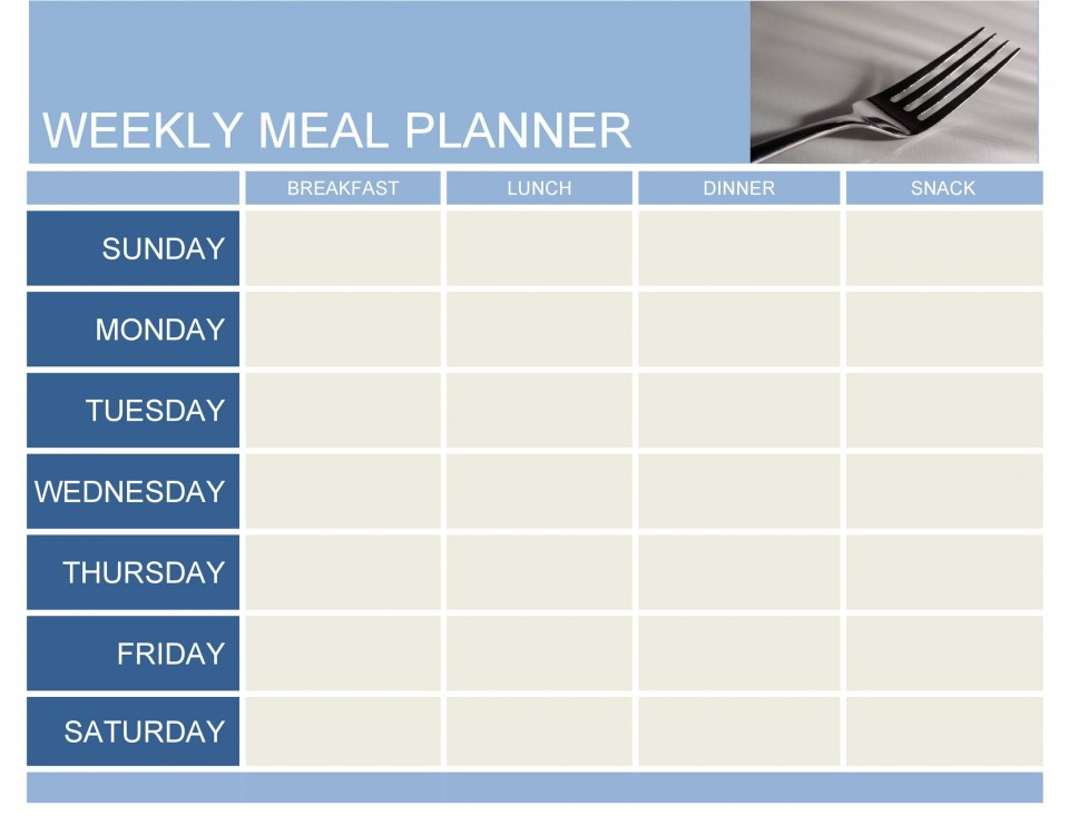 007 Marvelou Excel Weekly Meal Planner Template Image  With Grocery List Downloadable960