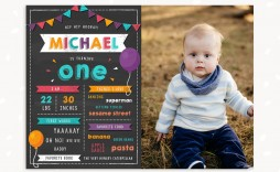 007 Marvelou First Birthday Chalkboard Template Example  Diy Printable Free