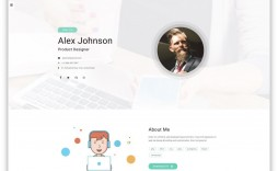 007 Marvelou Free Html Resume Template Idea  Html5 Best Cv Desmond / Download