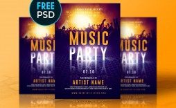 007 Marvelou Free Party Flyer Psd Template Download Highest Quality  - Neon Glow