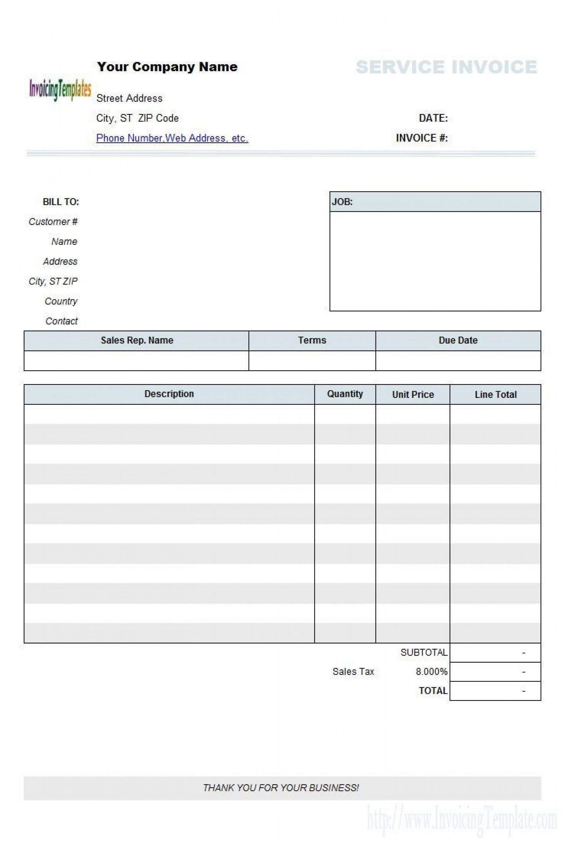 007 Marvelou Free Tax Invoice Template Excel South Africa Photo 1920