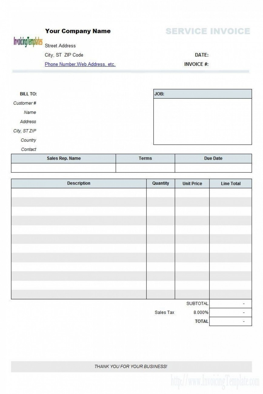 007 Marvelou Free Tax Invoice Template Excel South Africa Photo