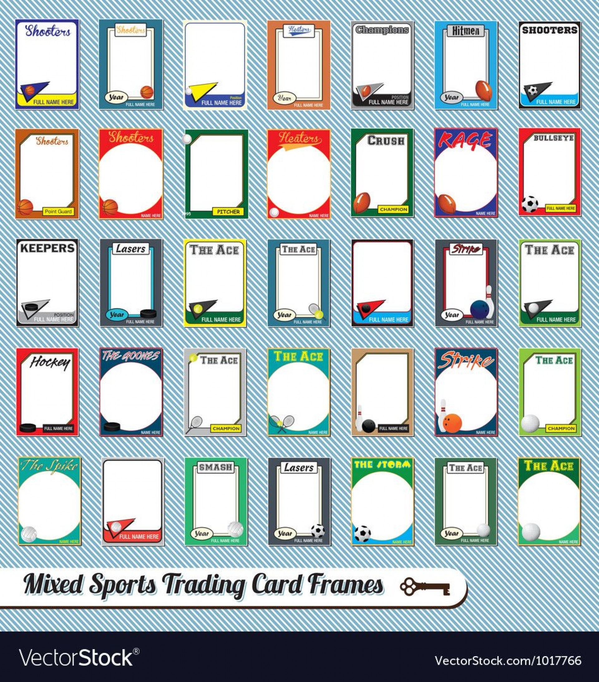 007 Marvelou Free Trading Card Template Download High Definition  Baseball1920