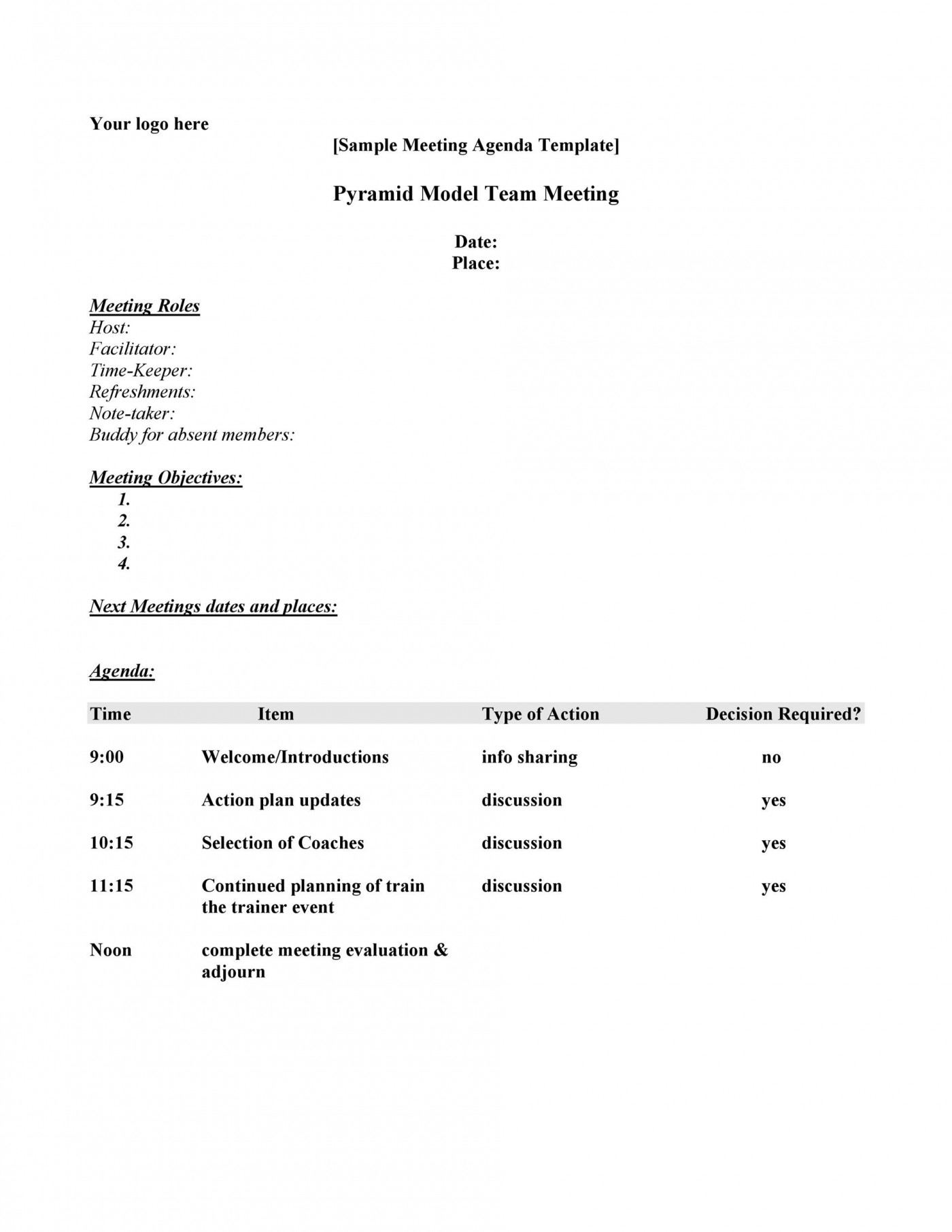 007 Marvelou Meeting Agenda Template Word Picture  Microsoft Board 2010 Example1400