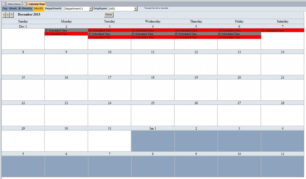007 Marvelou Microsoft Acces Employee Time Card Template Design Large