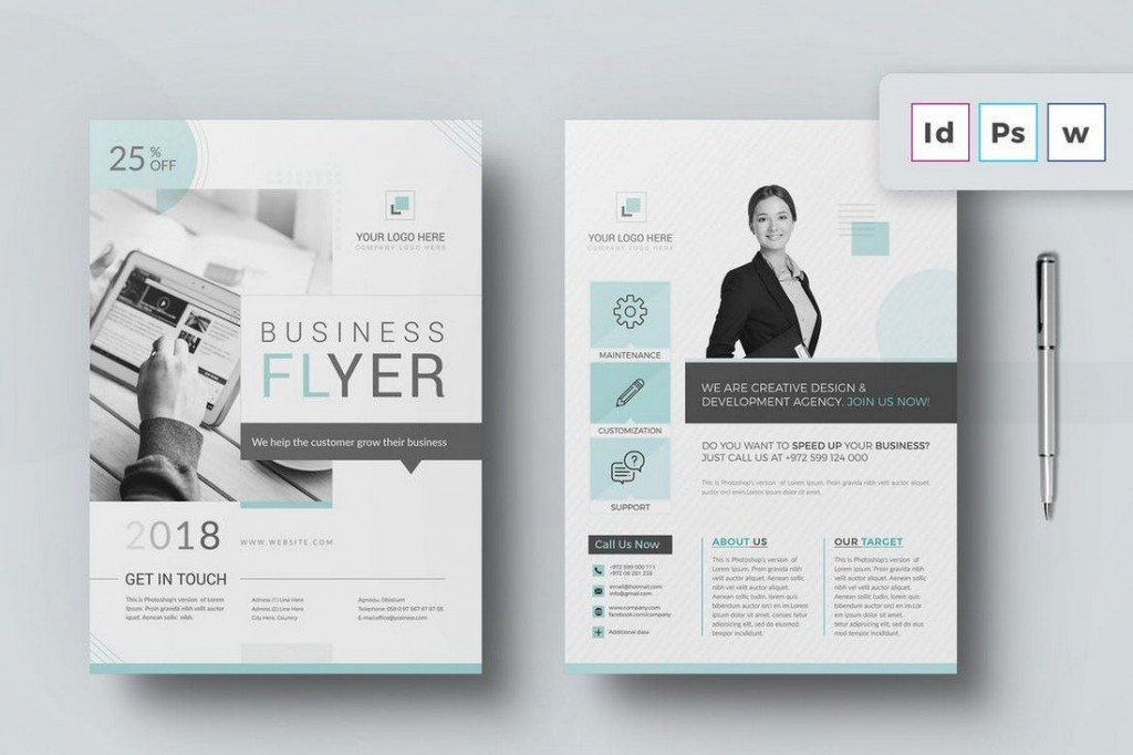 007 Marvelou Microsoft Word Brochure Template Example  M Free Download Design 2007 A4Large